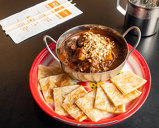 Mussaman Curry Short Ribs w/ Roti